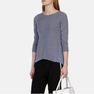 Karen Millen Knit Ribbed Pullover Sweater White M
